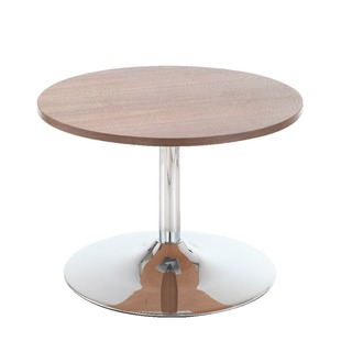 Walnut Low Bistro Table With Trumpet Base