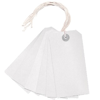 White 120x60mm Strung Tag (1000 Pack)