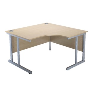 Intro Warm Maple 1200mm Radial Right Hand Cantilever Desk