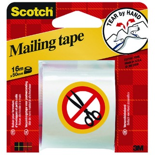 Clear Hand Tearable Packaging Tape 50mm x 16m E5106C