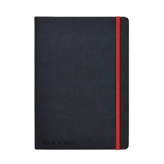 ' Red A5 Black Casebound Hardback Notebook 400033673