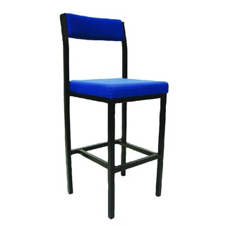 Blue Padded Seat High Stool PS4044