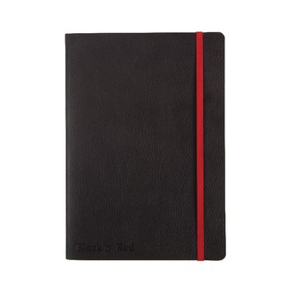 ' Red A5 Black Soft Cover Notebook 400051204