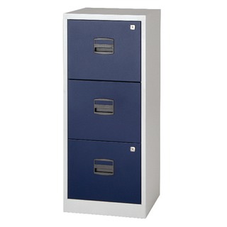 A4 Homefiler 3 Drawer Grey Blue