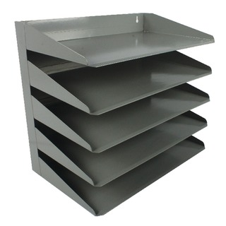 Steel 5 Tier Grey Letter Rack 605SGRE