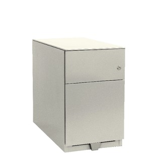 Mobile 1 Stationery 1 Filing Drawer Chalk White Note Pedestal