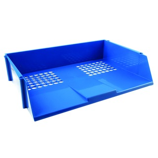 Blue Wide Entry Letter Tray