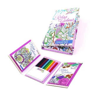 Adult Colouring Book Travel Set (6 Pack)