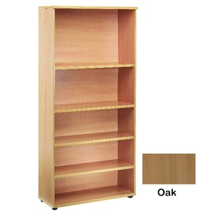 4 Oak Shelf 2000mm Bookcase