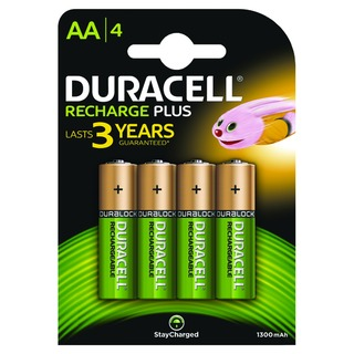Rechargeable AA NiMH 1300mAh Batteries (4 Pack) 81367177