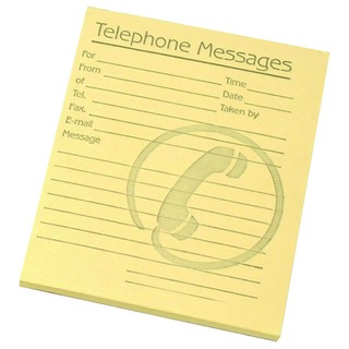 Yellow Telephone Message Pad 127 x 102mm (10 Pack) 1000804