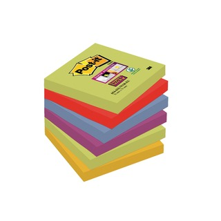 Post-it 76 x 76mm Marrakesh Super Sticky Notes (6 Pack) 654-6SS-MAR-EU