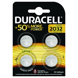 2032 Lithium Coin Battery Pack of 4 ECR2032