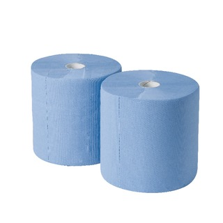 170mx250mm 3-Ply Blue Industrial Roll Pack of 2 GEM503B