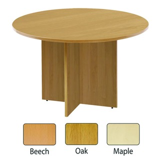 Maple 1100mm Round Meeting Table