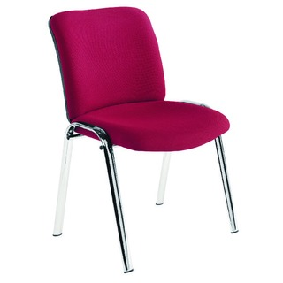 Conference High Back Chrome Chair Claret