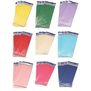 Tissue Paper Assorted Colours (180 Pack)