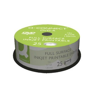 Inkjet Printable DVD-R Discs 16x 4.7GB (25 Pack)