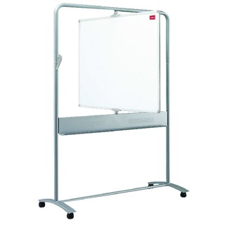Grey Mobile Vertical Pivot Whiteboard 1200 x 900mm 1901030