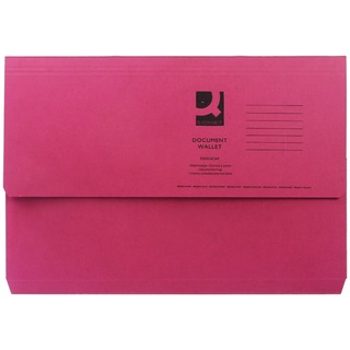 Foolscap Red Document Wallet (50 Pack)