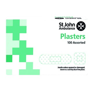 Fabric Plasters Assorted Sizes (100 Pack) F94026