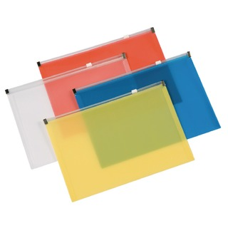 Assorted A5 Document Zip Wallet (20 Pack)