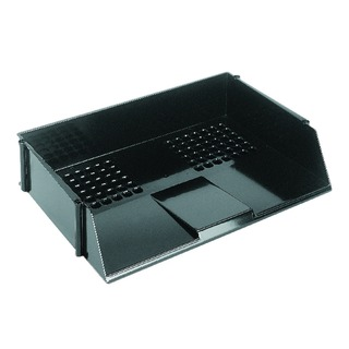 Black Wide Entry Letter Tray