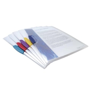 A4 Assorted Pivot Clip Files (5 Pack) 0786