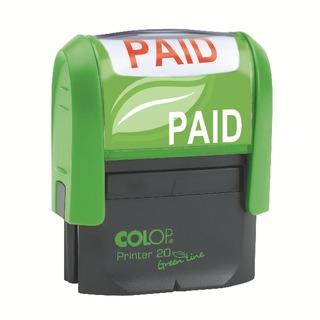 OLOP Green Line PAID Word Stamp GLP20PAID