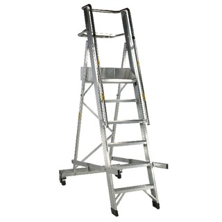 Aluminium 6 Tread Folding Mobile Step Ladder 31603