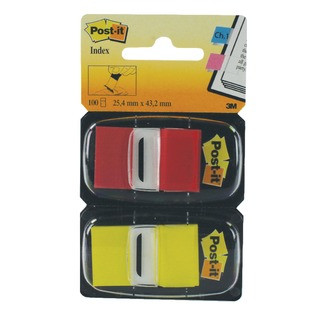 1 Inch Red and Yellow (Pack 2x50) 680-RY2