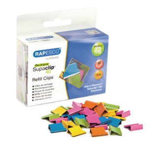 Supaclip 40 Multi Coloured Refill Clips (150 Pack) CP15040M