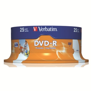 4.7GB 16x Speed Spindle DVD-R (25 Pack)