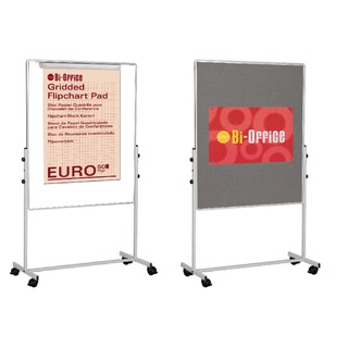White Portable Duo Board & Flipchart Easel EA4724