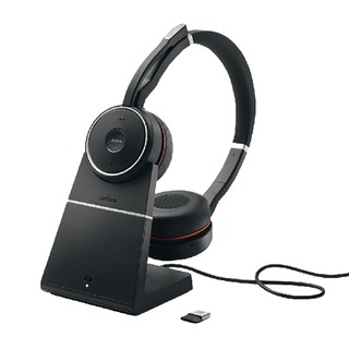 Evolve 75 Skype for Business Black Headset with Charging Stand 7599-832-199
