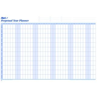 p Marketing Mark-it Perpetual Year Planner Laminated PYP