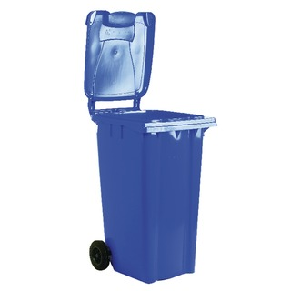 2 Wheel Blue Refuse Container 80 Litre 3312