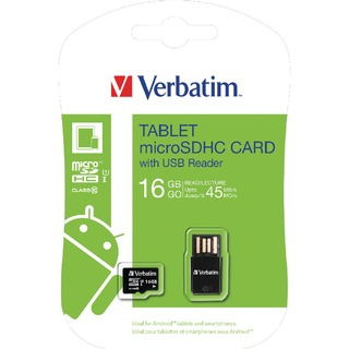 Tablet 16GB micro SDHC Card With USB Reader