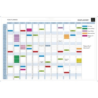 Magnetic Drywipe Perpetual Year Planner 56153E