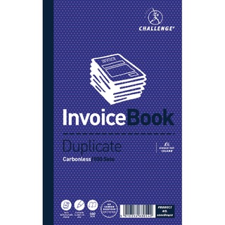 Duplicate Invoice Single VAT Column Book Carbonless 100 Sets 210 x 130mm (5 Pack) 100080412