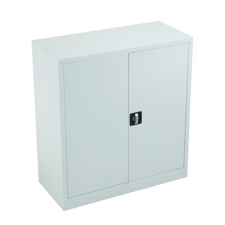 alos Double Door Stationery Cupboard 1000 White