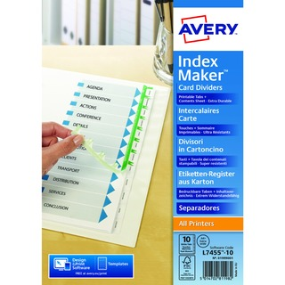 Index Maker A4 Extra-Wide 10-Part White Divider 0199900