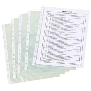Punched Pocket A4 50 Micron Clear (100 Pack)