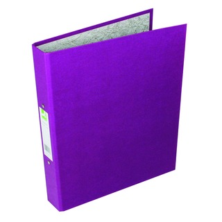 2 Ring 25mm Paper Over Board Purple A4 Binder (10 Pack)