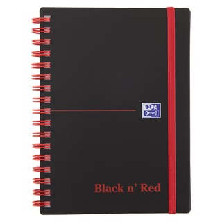 ' Red A6 Wirebound Polypropylene Notebook 140 Pages Ruled (5 Pack) 1000804