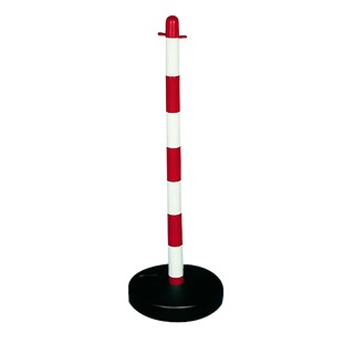 Demarcation Barrier Chain Support Post Red/White 404046