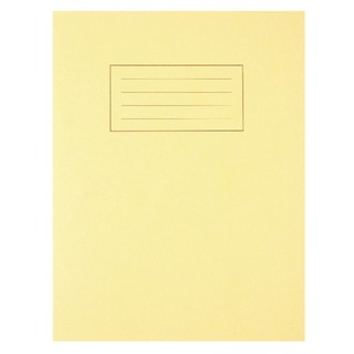 Feint Ruled With Margin Yellow 229x178mm Exercise Book 80 Pages (10 Pack) EX1