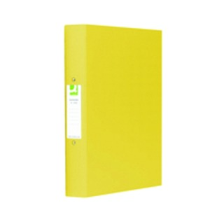 2-Ring A4 Binder 25mm Polypropylene Yellow (10 Pack)