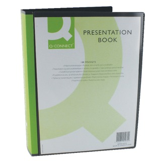 Presentation 100 Pocket Black Display Book
