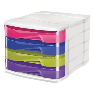 Pro Happy 4-Drawer Module Multi-Coloured 394H MULTI